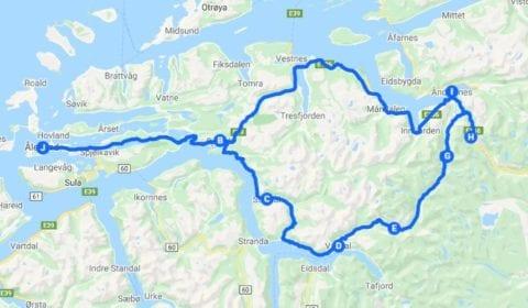 Google kart over Ålesund Privat fra Fjorder til Troll