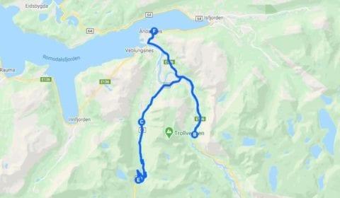 Google map van Åndalsnes Privé Excursie de Troll Road en Troll Wall