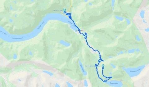 Google Karte von Geiranger Privat Berg Dalsnibba und Adlerstraße