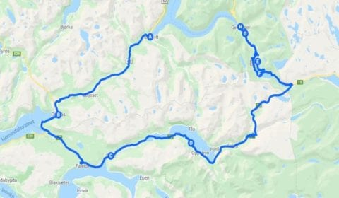 Google map van Hellesylt Privé Excursie de Ultieme Panorama Tour naar Geiranger