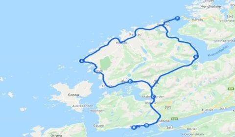 Google map van Molde Privé Excursie de Avontuurlijke Atlantic Ocean Road