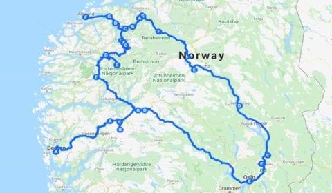 Google Karte von Oslo das 10-Tägige Norwegische Highlight-Erlebnis